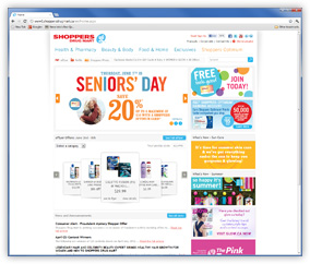 Shoppers Drug Mart Screenshot